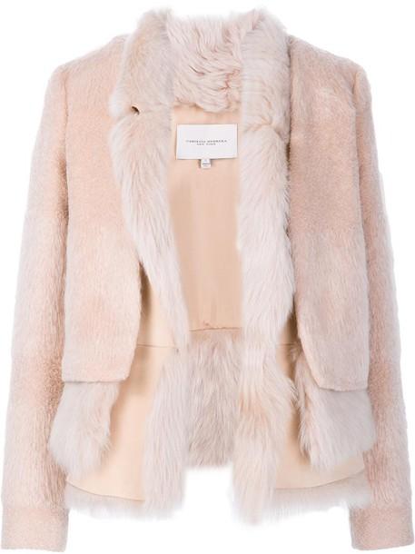 jacket fur women white wool