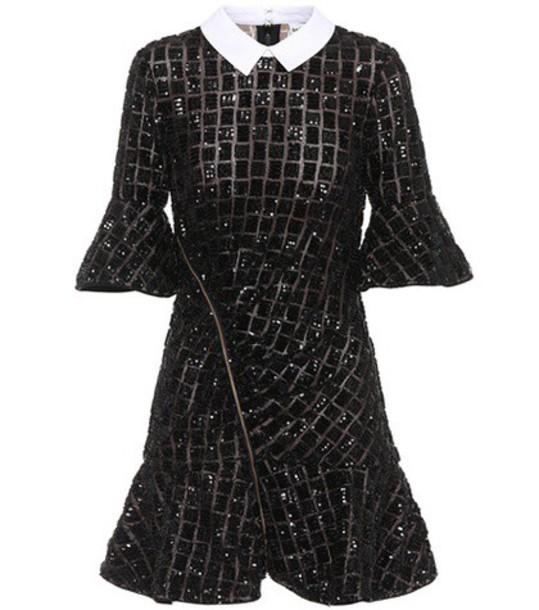 self-portrait dress mini embellished black