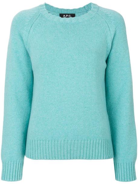 A.P.C. sweater women blue wool