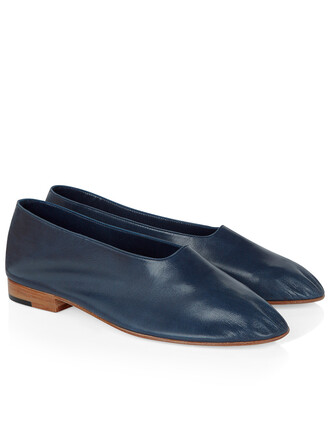 shoes leather navy
