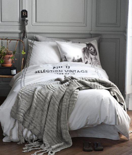 Shirt Bedding White Grey Wolf Wheretoget