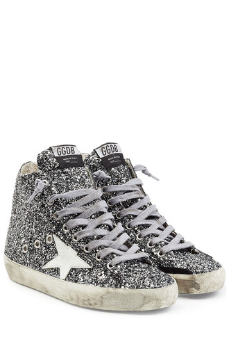 glitter high sneakers shoes