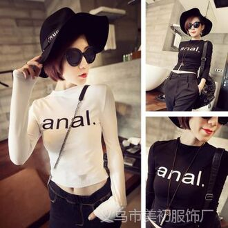 sweater crop tops balck long sleeves