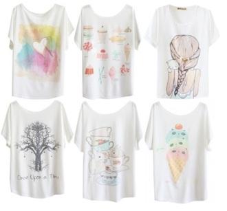 t-shirt kawaii anime cats
