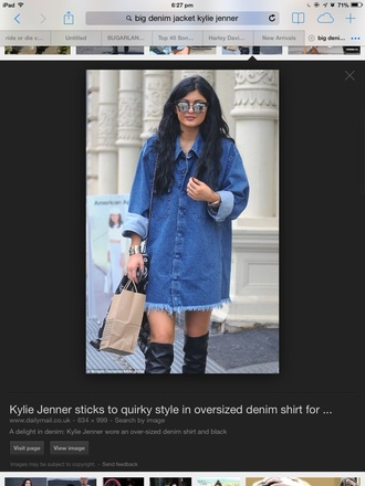 kylie jenner shirt dress denim shirt