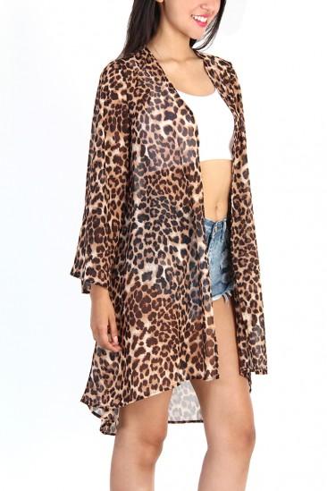 Leopard Kimono Cardigan