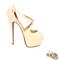 Killer heels - nude 6 inch platform high heels