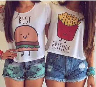 t-shirt best friend shirts love hamburger frites best hipster tumblr outfit shoes