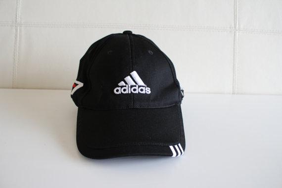 d0c8c71ec589b Vintage Adidas Fitted Cap Hat Adidas Trefoil Taylor Made Golf Cap Telus  Embroidered Black Rare 90s Deadstock Sport Cap Unisex