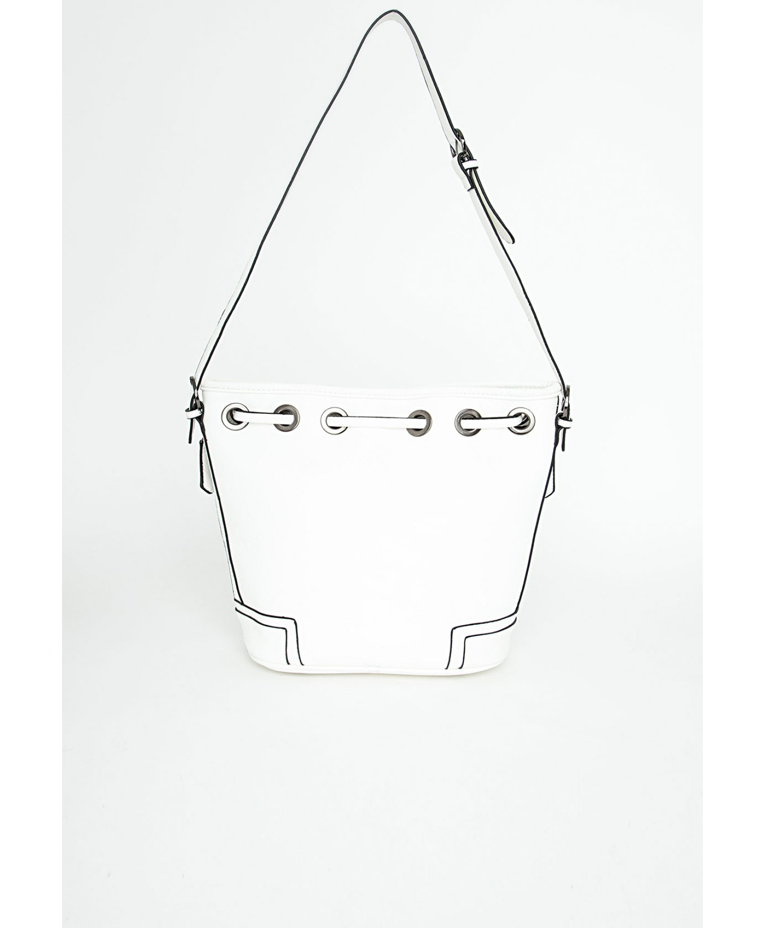 Missguided - Leola White Zip Drawstring Bag