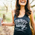 Cowboy Take Me Away | Women's Tri-Black Racerback Tank Top