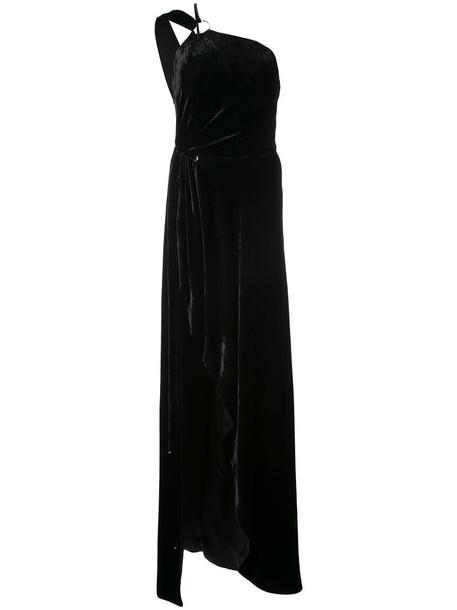 MUGLER dress maxi dress maxi women black silk