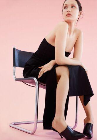 dress slit dress strapless strapless dress bella thorne editorial vogue