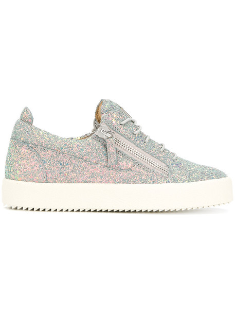 glitter women sneakers leather grey shoes