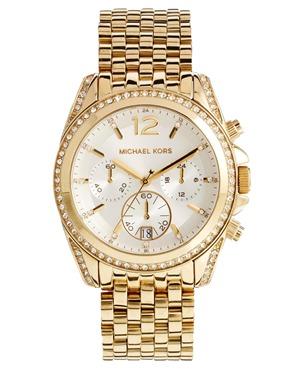 Michael Kors | Michael Kors Pressley Gold Watch at ASOS