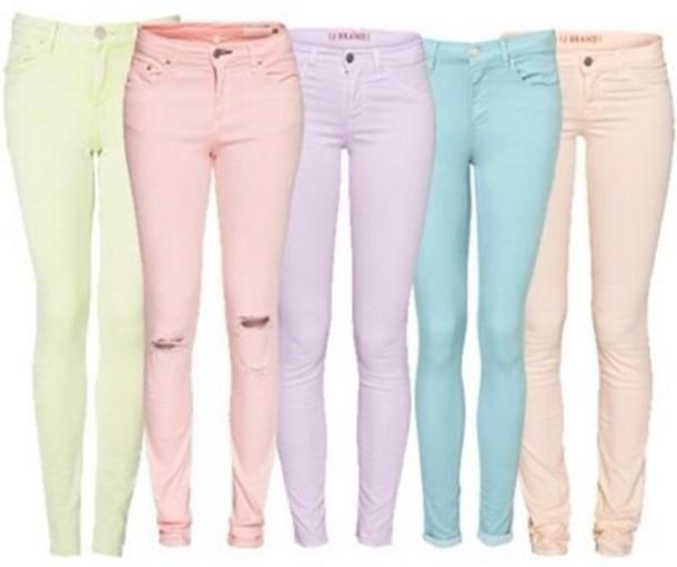 jeans pastel pastel denim pants
