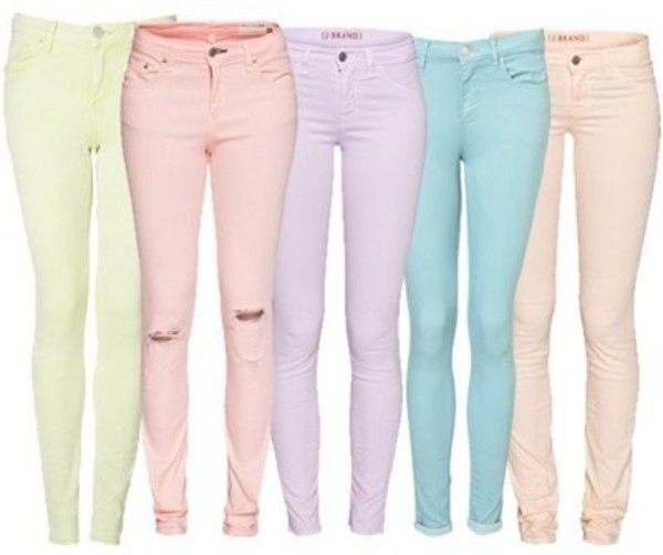 jeans pastel pastel denim pants