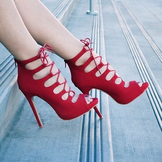 shoes red heels cute high heels cute dress