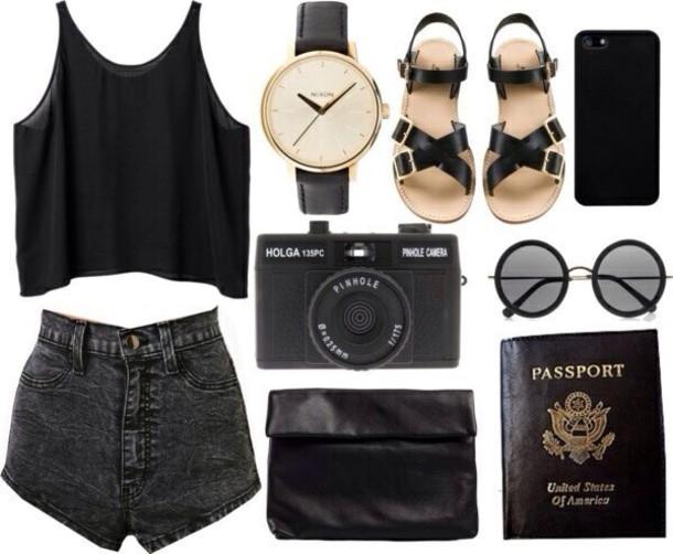 shorts sunglasses jewels