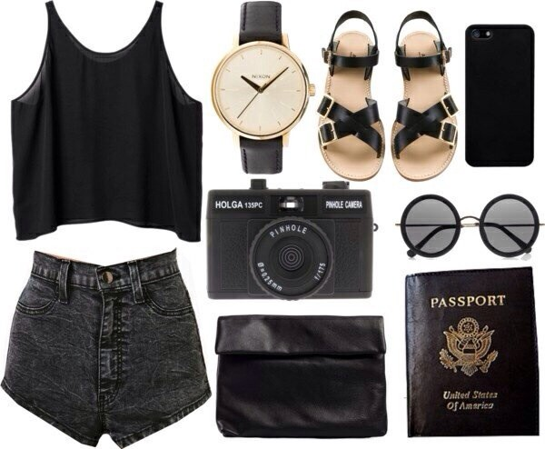 shorts sunglasses jewels