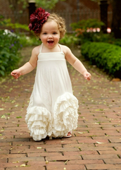 dress,baby,girl,toddler,flowers,flowergirl,flowergirls,wedding,white,ruffle,hair accessory
