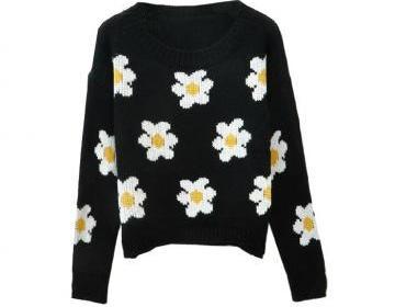 *free ship* daisy sweater