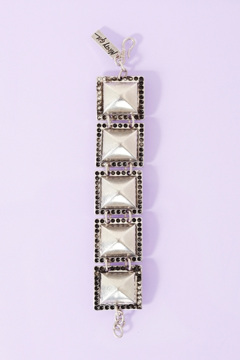 Pierced stud bracelet  in  collections riot girly at nasty gal