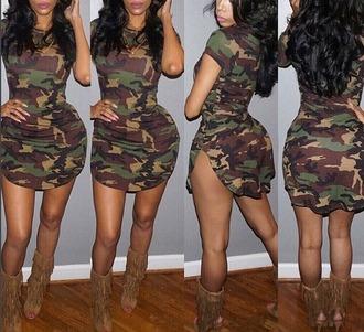 dress girl girly girly wishlist bodycon bodycon dress mini dress camouflage sexy dress