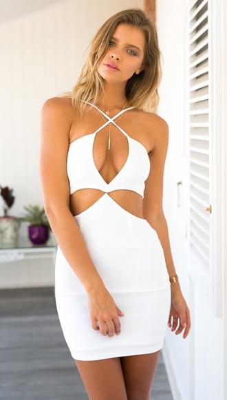dress white prom dress taylor swift cute dress cut-out dress