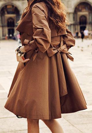 shego shopping mall —  [grzxy6600198]OL Style Elegant Ruffle Brown Coat