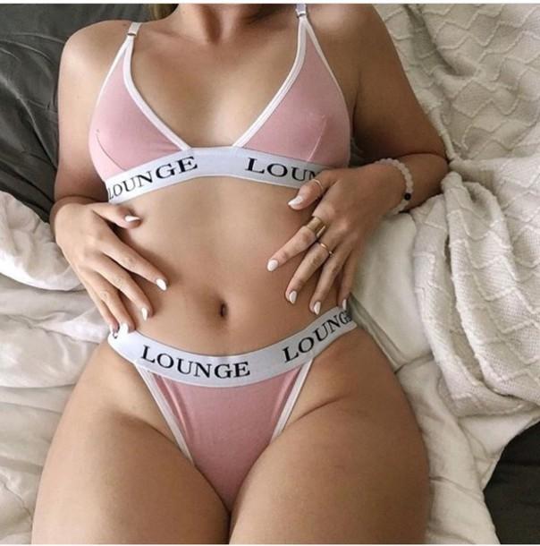 217126e5aa05 underwear, lounge, pink, pink underwear, white, bra, blush pink ...