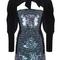 Sequin mini dress with velvet sleeves | moda operandi