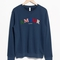 & other stories | embroidered fleece sweatshirt | blue