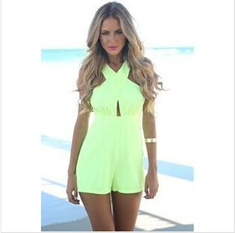 jumpsuit sexy backless jumpsuit sleeveless pierced