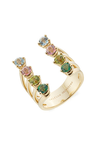 ring gold ring gold multicolor jewels