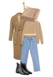 jestem kasia,blogger,sweater,jeans,coat,shoes,jewels,scarf,camel coat,fall outfits,ankle boots
