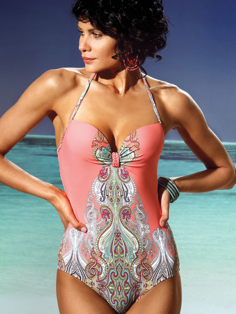 Indian summer padded one piece swimsuit