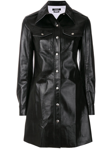 CALVIN KLEIN 205W39NYC dress shirt dress women black