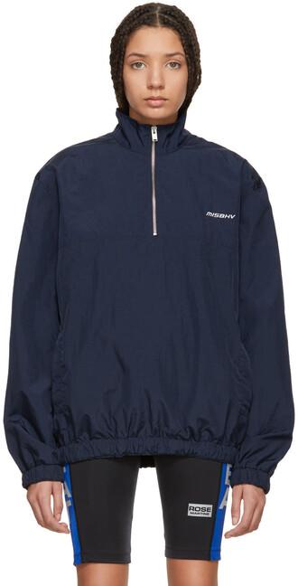 jacket zip navy