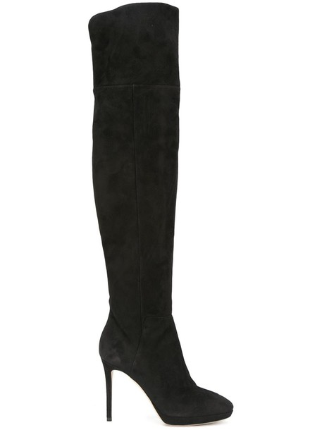 high women 100 thigh high boots leather suede black shoes