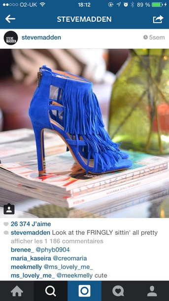 shoes steve madden electric electric blue style fashion heels sandals spring summer