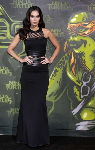 dress black megan fox maxi dress