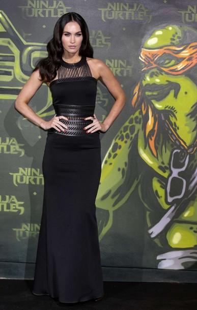 dress megan fox black maxi dress