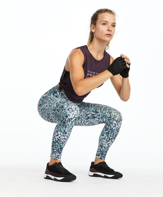 high intensity training print leggings