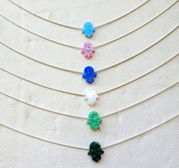 6 Stk Multicolor Opal Hamsa Hand Halsketten von UniversalAge