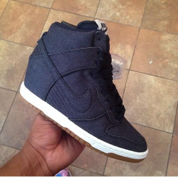 shoes, sneakers, wedge sneakers, nike
