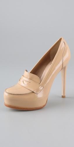 Pour la victoire larkin penny loafer pumps