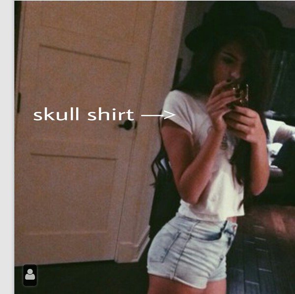 crop tops white shirt blouse lace jeans skull light shorts blood american horror story tumblr t-shirt