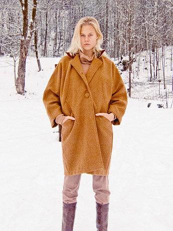 Unisex Long Wool Coat | American Apparel