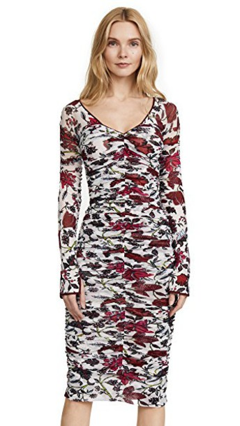 Diane Von Furstenberg dress midi dress long midi v neck
